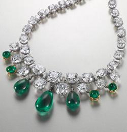 گردنبند زمرد و الماس بوچرون