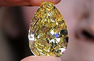 معرفی بزرگترین الماس زرد جهان