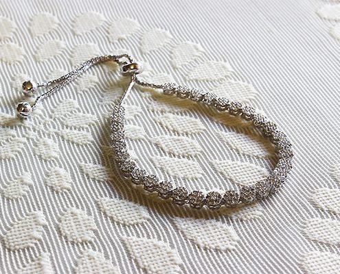 دستبند با سنگ زیرکن با کد محصول BR.0003