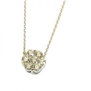 گردنبند با سنگ الماس با کد محصول NE.0002