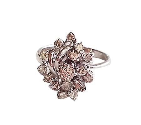 انگشتر با سنگ الماس و کد محصول RI.0013