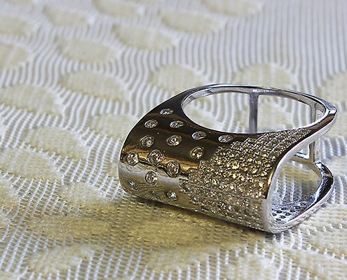 انگشتر با سنگ الماس با کد محصول RI.0014
