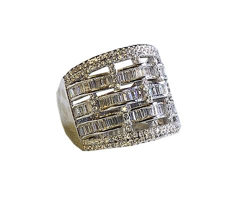 انگشتر با سنگ الماس با کد محصول RI.0018