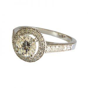 انگشتر با سنگ الماس با کد محصول RI.0024