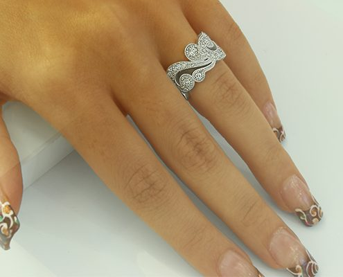 انگشتر با سنگ الماس با کد محصول RI.0004