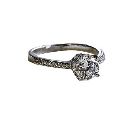 حلقه ازدواج با الماس با کد محصول WE.RI.0001
