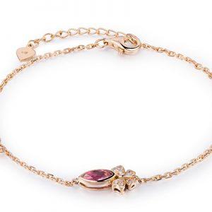 دستبند با کوارتز صورتی و الماس با کد محصول BR.0014