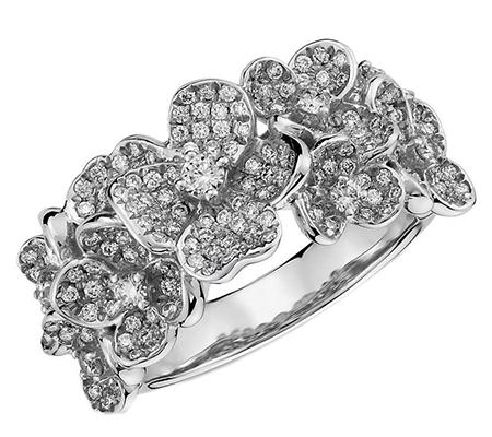 انگشتر با سنگ الماس با کد محصول RI.0034