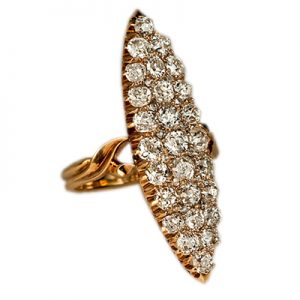 انگشتر با سنگ الماس با کد محصول RI.0039