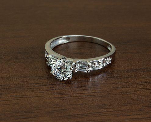 حلقه ازدواج با سنگ الماس با کد محصول WE.RI.0002