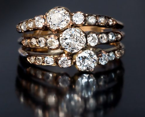 حلقه ازدواج با سنگ الماس با کد محصول WE.RI.0004