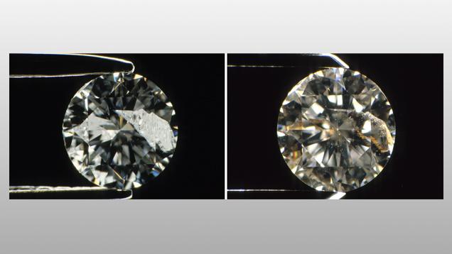 الماس - پر کردن منافذ و شکاف ها