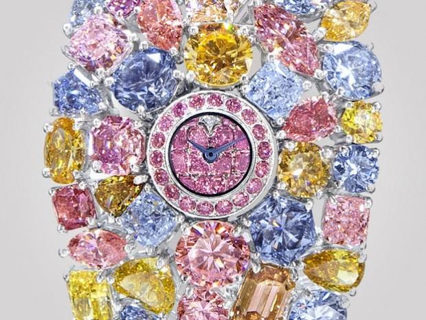 ساعت 55 میلیون دلاری الماس
