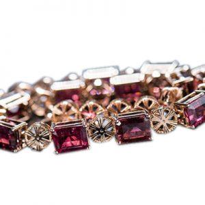 دستبند با سنگ یاقوت سرخ با کد محصول BR.0018