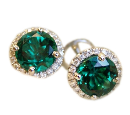EARRING - TOURMALINE - DIAMOND-EA.0016