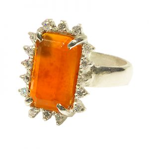 RING, AGATE, DIAMOND, RI.0047