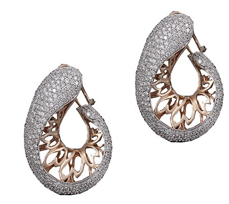 EARRINGS, DIAMOND, EA.0017