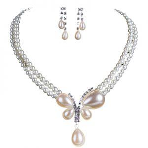 نیم ست الماس و مروارید با کد H.S.0026
