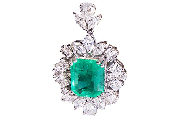 آویز زمرد و الماس با کد ME.0019