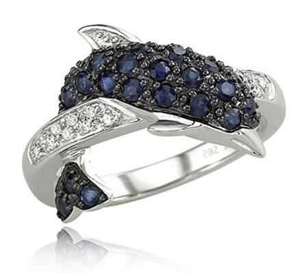 RING, BLUE SAPPHIRE, DIAMOND, RI.0051