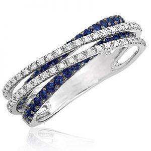 WEDDING RING, DIAMOND, SAPPHIRE,WE.RI.0006