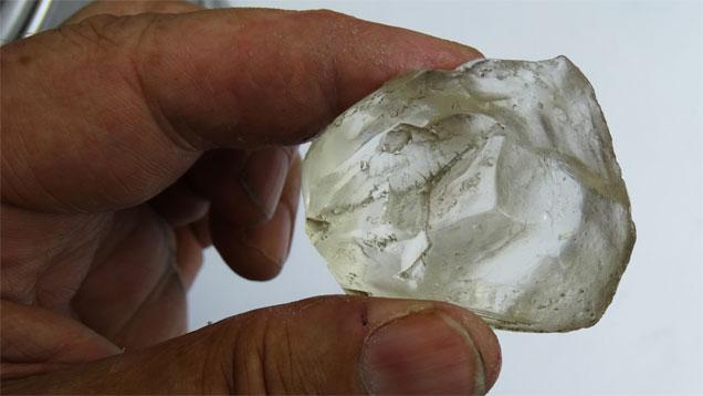 مونه ای از الماس امید لسوتو.