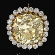 AHMED SHAH'S FANCY YELLOW DIAMOND JEWEL