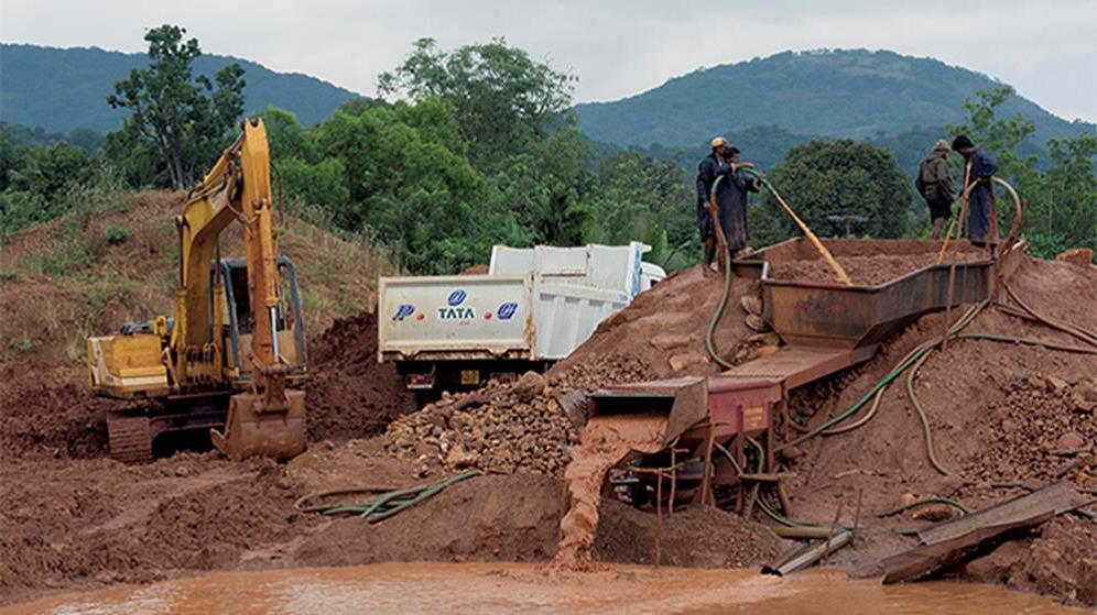 شیوه معدن کاری در سریلانکا